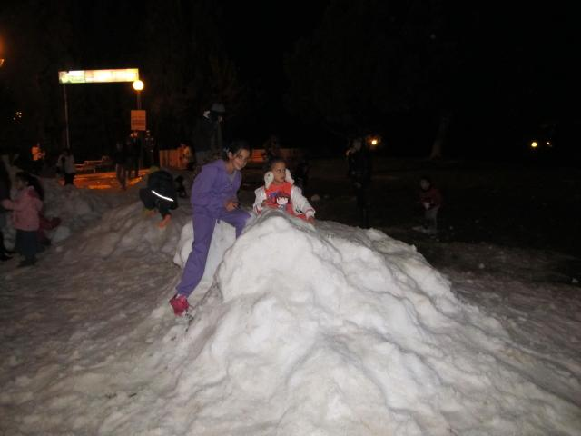 Imported Snow in Ma'ale Adumim