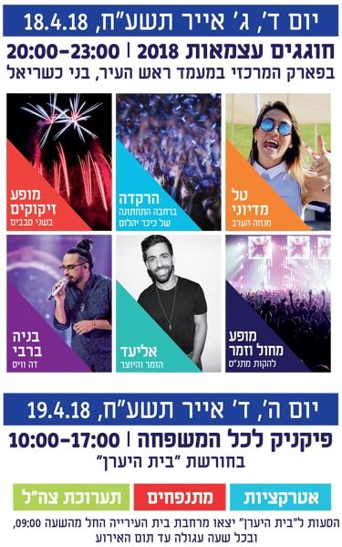 Yom Ha'atzmaut Events in Ma'ale Adumim